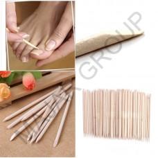 Двустранен дървен избутвач за кожички(10бр.)