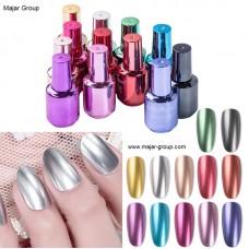 Лак за нокти с огледален ефект 8мл, 12 цвята