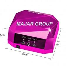 Kомбинирана UV & LED  лампа-36 w 2в1 с троен таймер